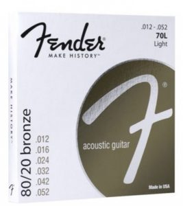 Fender 80/20 Bronze strings - Acoustic 12-52