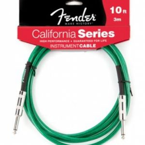 Fender CaliforniInstrument Cable - Surf Green 10'