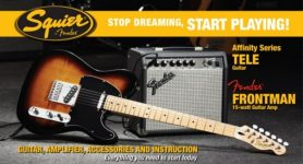 Squier Telecaster by Fender Guitar Pack + Frontman 15