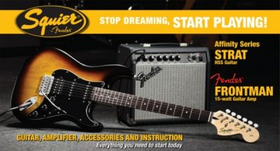 Squier by Fender Affinity Stratocaster Pack - HSS + 15G