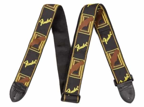 Fender Monogrammed Straps Black/Yellow/Brown