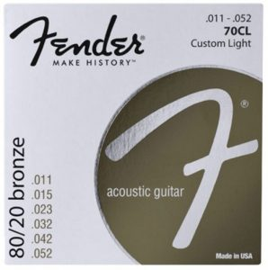Fender 80/20 Bronze Acoustic Strings 11-52