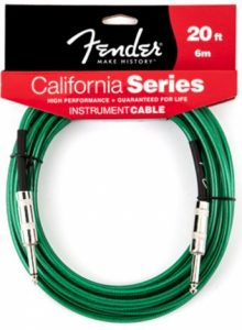 Fender CaliforniInstrument Cable - Surf Green 20'