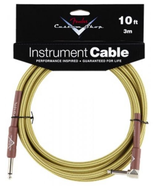 Fender Custom Shop Performance Series Cable - Tweed Angled 18'