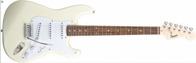 Squier Stratocaster by Fender Bullet Olympic White