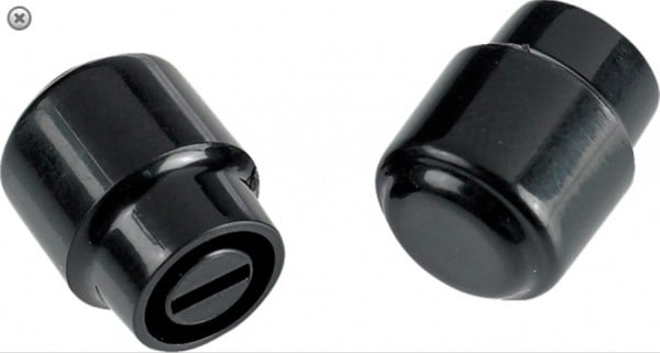 Fender Switch Tip - Tele 'Barrel' Black (2)