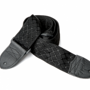"Fender Nylon Jacquard Strap, 2"" Black Satin Diamond"