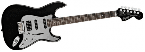 Fender Black and Chrome Fat Strat Electric Guitar