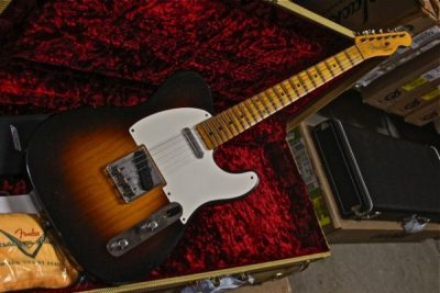 Fender Telecaster Custom Shop 1955 Journeyman 1-Piece Maple Neck 2-Tone Wide Faded Sunburst