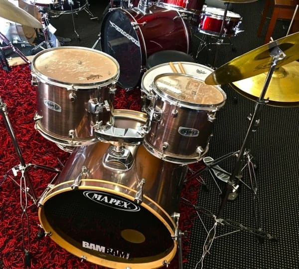 Mapex Voyager Series Drum Kit Silver 5 Piece With Cymbals