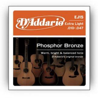D'Addario EJ15 Phosphor Bronze, ExtrLight, 10-47