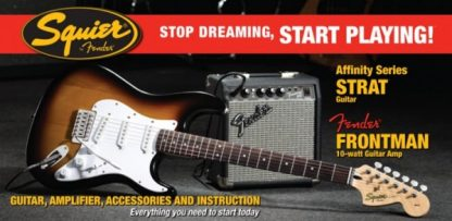 Squier by Fender Stratocaster Guitar Pack + Frontman 10