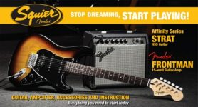 Squier by Fender Stratocaster Guitar Pack - HSS + 15G