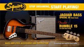 Squier Jaguar Bass by Fender Guitar Pack + Rumble 15