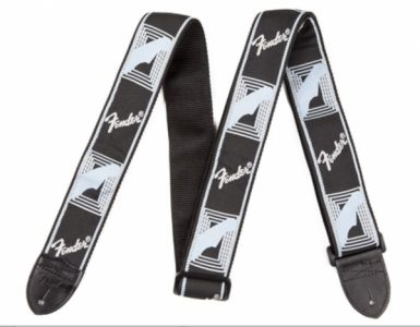 Fender Monogrammed Straps Black/Light Grey/Blue