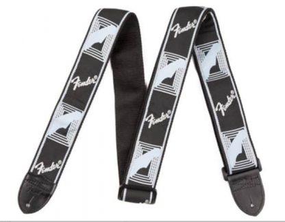 Fender Monogrammed Straps Black/Light Grey/Blue