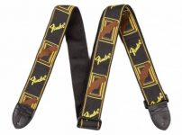 Fender Monogrammed Straps Black/Yellow/Brown
