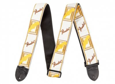 Fender Monogrammed Straps White/Brown/Yellow