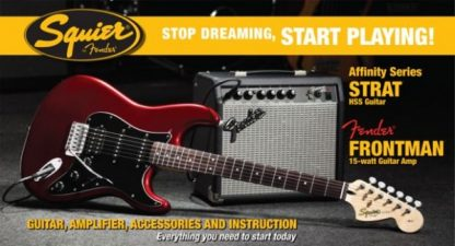 Squier by Fender Stratocaster Guitar Pack Candy Apple Red 15g