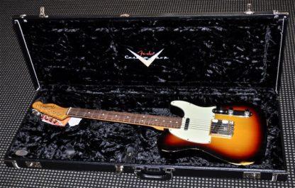 Fender Case - G&G Black Custom Shop Strat / Tele Crushed Velvet Embroidered CS Logo