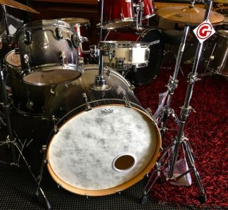 PDP Concept Maple by DW Silver to Black Sparkle fade