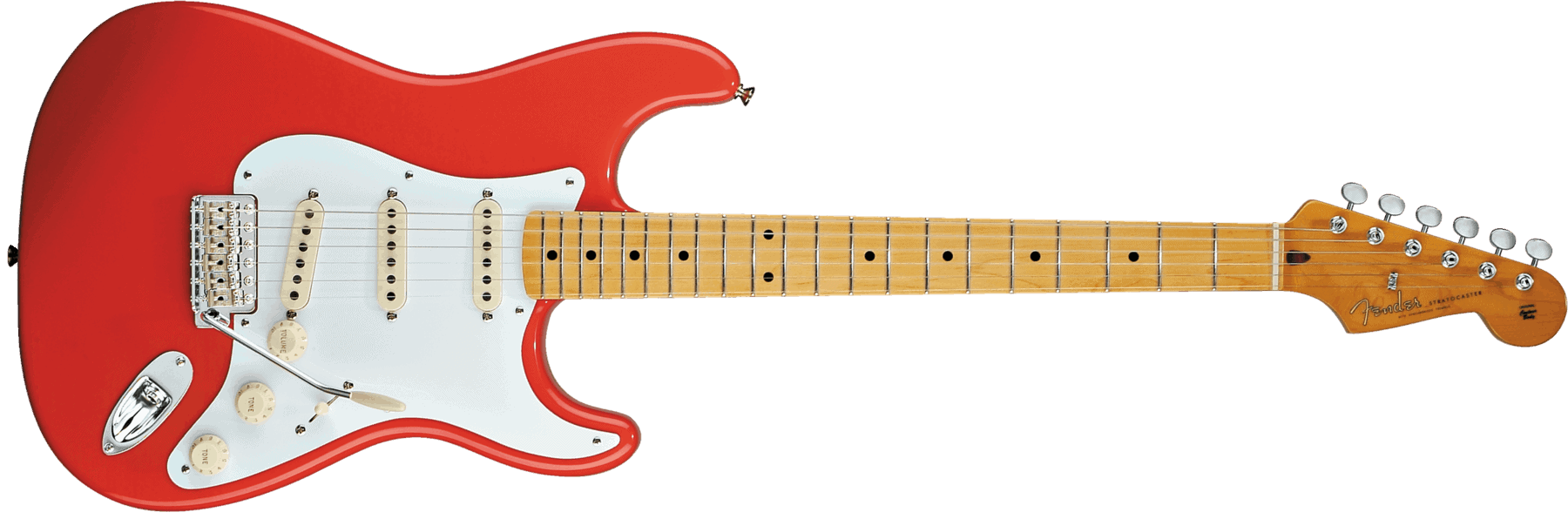 fender classic series 39 50s stratocaster maple fingerboard fiesta red black dot music. Black Bedroom Furniture Sets. Home Design Ideas