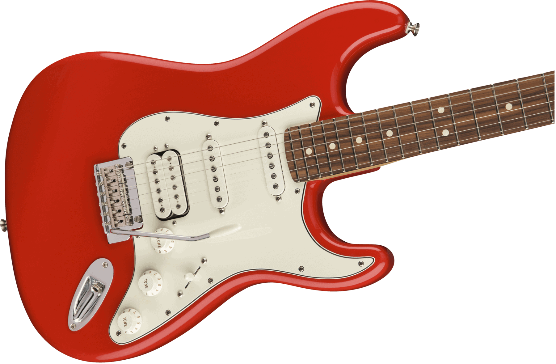 fender player stratocaster hss pau ferro sonic red black dot music. Black Bedroom Furniture Sets. Home Design Ideas